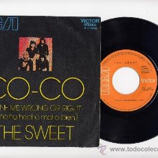 Discos de vinilo: THE SWEET.45 RPM.DONE ME WRONG OR RIGHT. RCA AÑO 1971. Lote 27415800