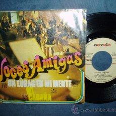 Discos de vinilo: VOCES AMIGAS UN LUGAR EN MI MENTE HARMONY POP SPAIN. Lote 27174289