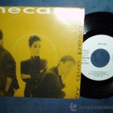 Discos de vinilo: MECANO AY QUÉ PESADO POP PROMO WHITE LABEL ARIOLA SPAIN MINT. Lote 27286129