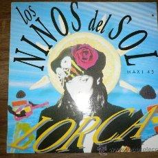 Discos de vinilo: LOS NINOS DEL SOL LORCA MAXI 45 T MAX MUSIC. Lote 26076054