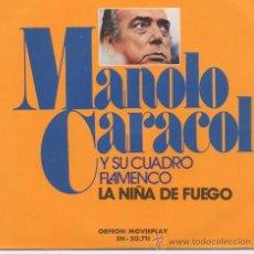 Dischi in vinile: MANOLO CARACOL,LA NIÑA DE FUEGO DEL 73. Lote 22944549