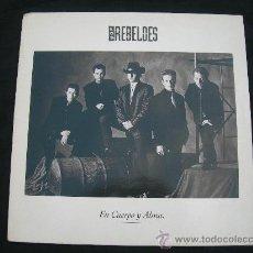 Discos de vinilo: LP LOS REBELDES // EN CUERPO Y ALMA. Lote 24847577