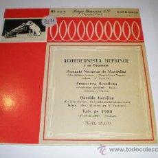 Discos de vinilo: SINGLE - ACORDEONISTA DEPRINCE Y SU ORQUESTA. Lote 25077514
