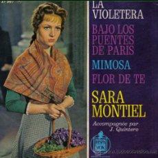 Discos de vinilo: SARA MONTIEL - EP-SINGLE VINILO - EDITADO EN FRANCIA - LA VIOLETERA + 3.. Lote 24536206
