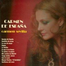 Discos de vinilo: CARMEN SEVILLA LP SELLO OLYMPO AÑO 1973. Lote 23006971