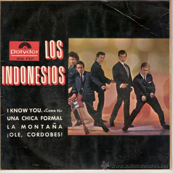 LOS INDONESIOS - I KNOW YOU + 3 (EP DE 4 CANCIONES) POLYDOR - VG+/EX (Música - Discos de Vinilo - EPs - Grupos Españoles 50 y 60)