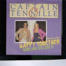 Discos de vinilo: CAPTAIN & TENNILLE HAPPY TOGETHER BABY YOU STILL GOT IT. Lote 22834536