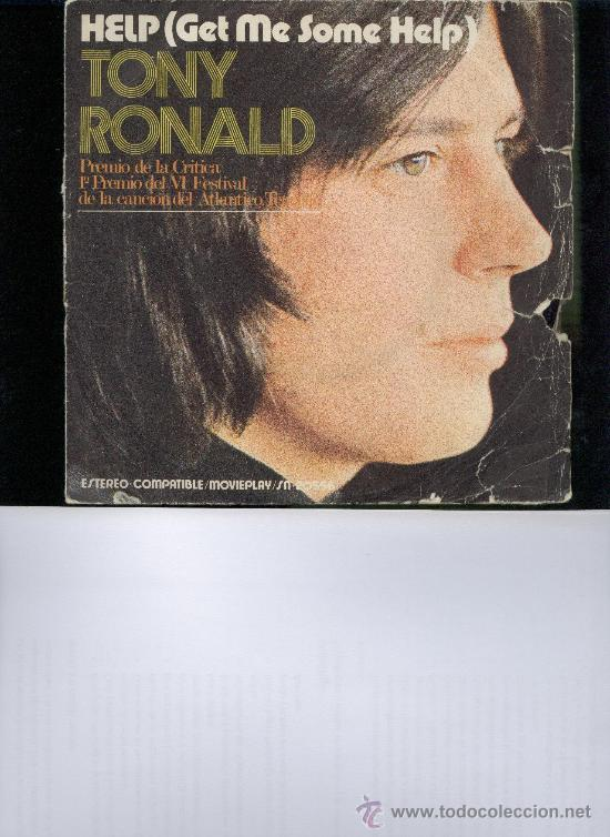 Discos de vinilo: TONY RONALD HELP ( GET ME SOME HELP) SINGLE - Foto 1 - 22722819