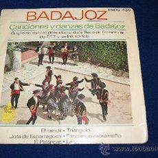 Discos de vinilo: DISCO DE VINILO /SINGLE DE 6 CACIONES /BADAJOZ /SECCION FEMENINA DE LAS JONS DE BADAJOZ . Lote 23083653