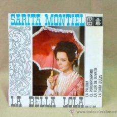 Discos de vinilo: DISCO, SARITA MONTIEL, HH 17.184, LA PALOMA, LA CAÑA DULCE, HISPA VOX, 45 RPM,. Lote 23108529