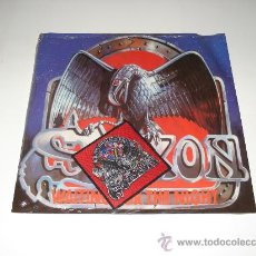 Discos de vinilo: SAXON / WAITING FOR THE NIGHT - EP 3 TEMAS ENGLAND 1986 - 1 ª EDICIÓN CON PATCHE!!! !. Lote 26316824