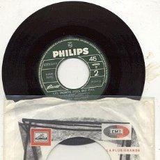Disques de vinyle: SINGLE JUKEBOX 45 RPM / JOHNNY HALLYDAY / TU NE ME VERRAS PAS PLEURER /// EDITADO PHILIPS . Lote 23167652