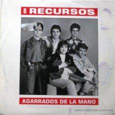 Discos de vinilo: SIN RECURSOS - AGARRADOS DE LA MANO - SINGLE 1990 EMI ODEON BPY. Lote 23176579