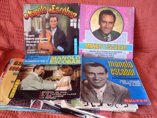 SINGLES MANOLO EACOBAR LOTE DE 16 DISCOS (Música - Discos - Singles Vinilo - Flamenco, Canción española y Cuplé)