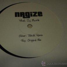 Discos de vinilo: NRGIZE ' WHAT IS MUZIK ' BLINDT REMIX & ORIGINAL MIX MAXI. Lote 23215506