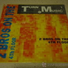 Discos de vinilo: 2 BROTHERS ON THE 4TH FLOOR 'TURN DA MUSIC UP' FIRST VERSION - SECOND VERSION - THIRD VERSION &. Lote 151646168