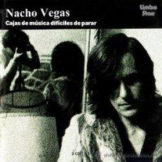 Disques de vinyle: 3LP NACHO VEGAS CAJAS DE MUSICA DIFICILES DE PARAR VINILO. Lote 235118615