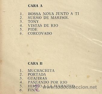 Discos de vinilo: MARISOL LP SELLO ZAFIRO EDITADO EN COLOMBIA DEL FILM MARISOL RUMBO A RIO - Foto 2 - 23278171
