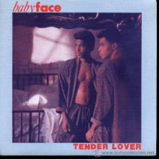 Disques de vinyle: BABY FACE - TENDER LOVER - SINGLE 1989 - PROMO - COMO NUEVO. Lote 45765299