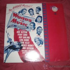 Discos de vinilo: WORDS AND MUSIC 1948LP BANDA SONORA ORIGINAL..HORNE..ROONEY..GARLAND..RODGERS AND HART. Lote 23357763