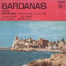 Discos de vinilo: SARDANES. SARDANAS 1. COBLA BARCELONA. PALOBAL 1967. EP SAR. Lote 23386742