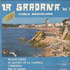 Discos de vinilo: SARDANES. LA SARDANA 1. COBLA BARCELONA. MARFER 1966. EP. SAR. Lote 23386829