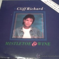 Discos de vinilo: CLIFF RICHARD MISTLETOE & WINE SINGLE 7. Lote 23424471