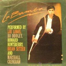 Disques de vinyle: BSO LA BAMBA (LOS LOBOS + BO DIDDLEY + HOWARD HUNTSBERRY...) LP VINILO 1987 SPAIN. Lote 51438212