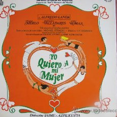 Discos de vinilo: LP - YO QUIERO A MI MUJER - REPARTO DEL TEATRO MARQUINA DE MADRID - PROMO ESPAÑOL, HISPAVOX 1977. Lote 149680754