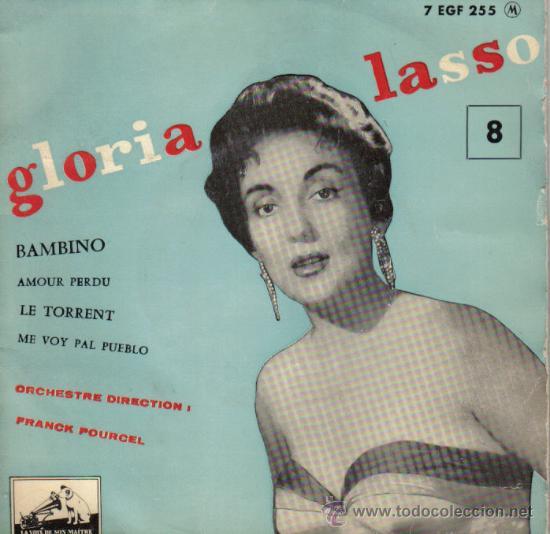 GLORIA LASSO & FRANCK POURCEL - EP VINILO 7' - EDITADO EN FRANCIA - BAMBINO + 3 (Música - Discos de Vinilo - EPs - Canción Francesa e Italiana)