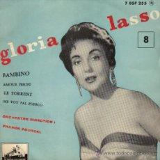 Discos de vinilo: GLORIA LASSO & FRANCK POURCEL - EP VINILO 7' - EDITADO EN FRANCIA - BAMBINO + 3. Lote 23406827