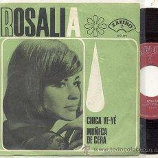 Discos de vinilo: SINGLE 45 RPM / ROSALIA / MUÑECA DE CERA ( EUROVISION ) SERGE GAINSBOURG/// EDITADO ZAFIRO 1965. Lote 23407325