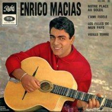 Discos de vinilo: ENRICO MACIAS - NOTRE PLACE AU SOLEIL. Lote 23457649
