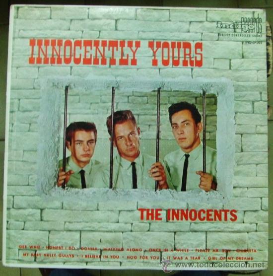 LP THE INNOCENTS: INNOCENTLY YOURS, ORIGINAL DOO WOP AMERICANO (Música - Discos - LP Vinilo - Pop - Rock Extranjero de los 50 y 60)