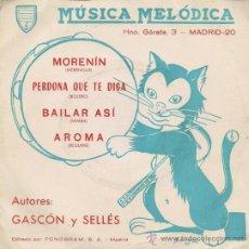 Discos de vinilo: ORQUESTA MAESTRO SELLÉS - MÚSICA MELÓDICA - EP - 1972. Lote 26314168