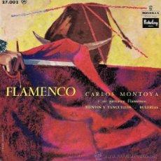 Discos de vinilo: CARLOS MONTOYA - FLAMENCO - EDICIÓN FRANCESA (EXCELENTE CONSERVACIÓN). Lote 26253189