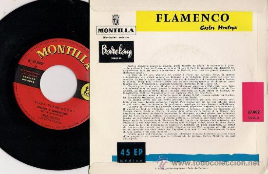 Discos de vinilo: CARLOS MONTOYA - Flamenco - Edición francesa (Excelente conservación) - Foto 2 - 26253189