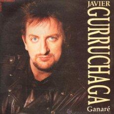 Discos de vinilo: JAVIR GURRUCHAGA - GANARÉ / UNA CITA A LAS 10 - MAXISINGLE 1990. Lote 23550884