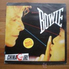 Discos de vinilo: DAVID BOWIE - CHINA GIRL - (ESPAÑA-EMI-1983) ROCK - MAXI LP. Lote 27518443