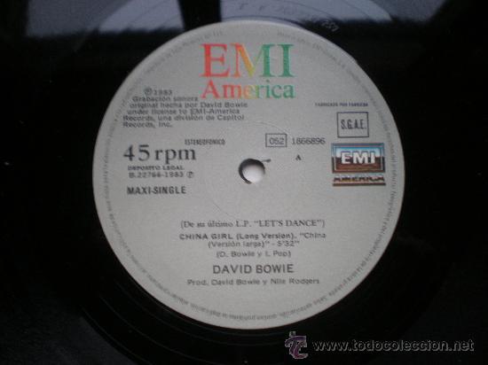 Discos de vinilo: DAVID BOWIE - CHINA GIRL - (ESPAÑA-EMI-1983) ROCK - MAXI LP - Foto 3 - 27518443