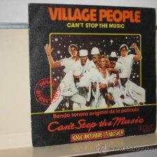 Discos de vinilo: VILLAGE PEOPLE - CAN´T STOP THE MUSIC - SINGLE VINILO - RAC 1980. Lote 23585140