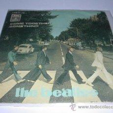 Discos de vinilo: THE BEATLES COME TOGETHER SOMETHING SINGLE EDICIÓN ESPAÑOLA . Lote 23591102