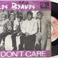 Discos de vinilo: SINGLE 45 RPM / LOS BRAVOS / I DON'T CARE // EDITADO POR BARCLAY FRANCIA. Lote 23610652