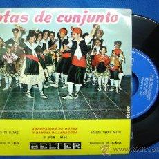 Discos de vinilo: - JOTAS DE CONJUNTO - AGRUPACIÓN DE COROS Y DANZAS DE ZARAGOZA- JOTA DE ALCAÑIZ + 3 - BELTER 1960. Lote 23611149