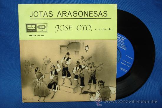 - JOSE OTO - JOTAS ARAGONESAS - DE BRILLANTES Y CORONAS + 8 - EMI ODEON 1959 RECONSTRUCCIÓN TECNICA (Música - Discos de Vinilo - EPs - Country y Folk)