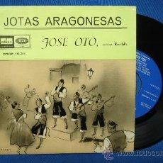 Discos de vinilo: - JOSE OTO - JOTAS ARAGONESAS - DE BRILLANTES Y CORONAS + 8 - EMI ODEON 1959 RECONSTRUCCIÓN TECNICA. Lote 26820256