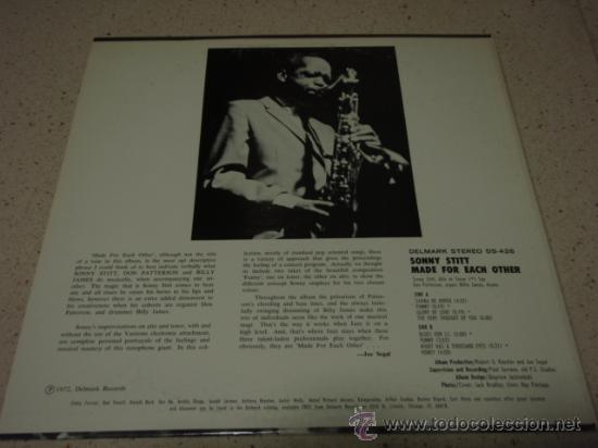 SONNY STITT ( MADE FOR EACH OTHER ) CHICAGO-USA 1972 LP33 DELMARK RECORDS