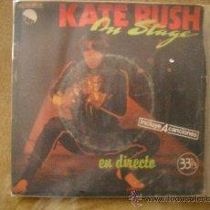 Discos de vinilo: KATE BUSH ON STAGE 4 CANCIONES FORMATO SINGLE A 33 RPM EN DIRECTO 1979. Lote 26677340
