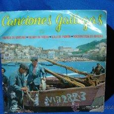 Discos de vinilo: - CANCIONES GALLEGAS - FOLIADA DE SANTIAGO+3 - EMI REGAL 1964. Lote 23671598