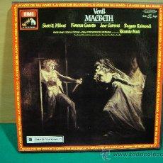 Discos de vinilo: VERDI MACBETH CAJA CON 3 LP + LIBRETO. Lote 27388547